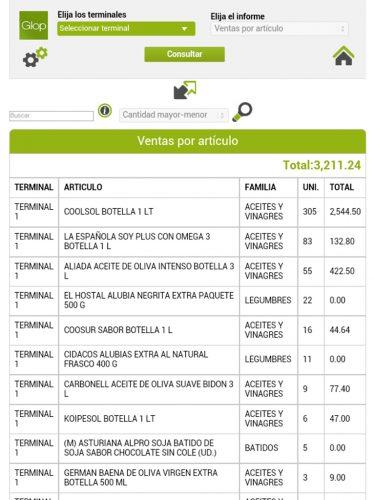 Modulo Software TPV Consulta Ventas Online