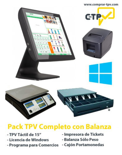 Pack TPV Comercios con Balanza