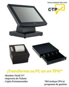 Pack Monitor Táctil, Cajón e Impresora de Tickets