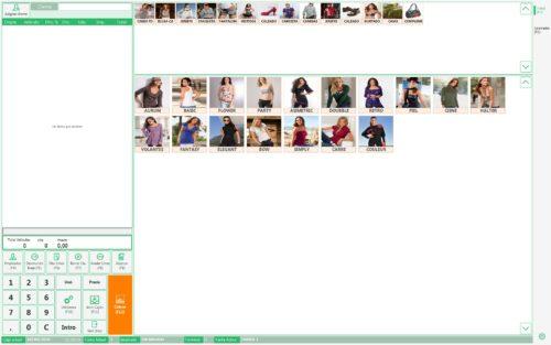 Programa Software TPV Tallas y Colores