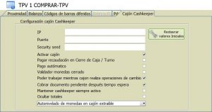 Modulo Software TPV enlace Cashkeeper